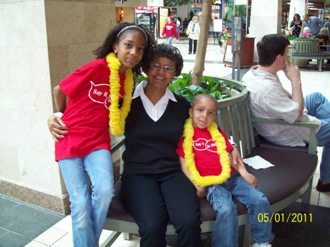 My mom, daughter, and son at Lemonade Day Stand 2011
