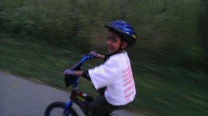 Jackson enjoying the freedom & fun of bike riding