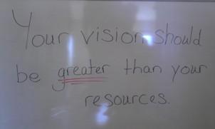 BIG vision trumps little resources