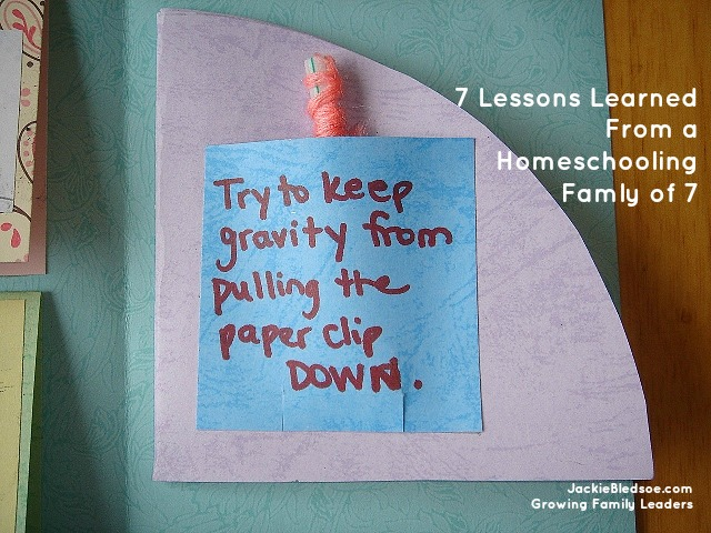 7 Lessons Learned from Homeschooling Family of 7 - JackieBledsoe.com - Growing Family Leaders