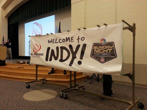 All Pro Dad, Sunday Night Football on NBC Indy Event