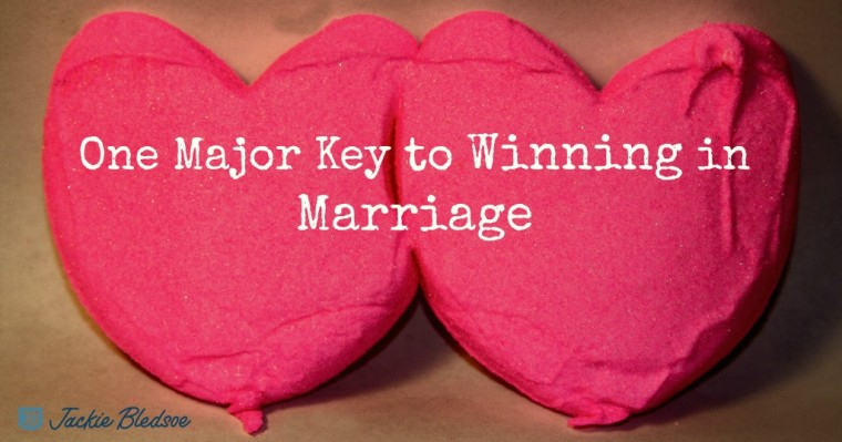 JackieBledsoe.com - One Major Key to Winning in Marriage