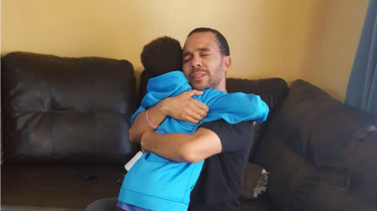 Father and son overjoyed to see each other - My Heart Attack Story   JackieBledsoe.com